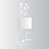 Carte d'anniversaire avec le cadre sur gris et blanc image libre de droits