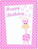 carte d'anniversaire heureuse Photos libres de droits