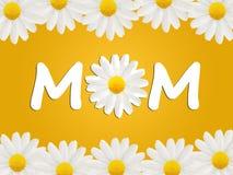 Carte d'anniversaire ou de jour de mère à la maman illustration libre de droits
