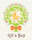 Carte d'anniversaire pour le garçon. Photographie stock libre de droits