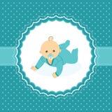 Carte d'annonce de bébé garçon. Image libre de droits