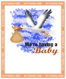 Carte d'annonce de naissance illustration stock