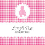 Carte d'annonce de naissance ou d'invitation de fête de naissance pour une fille nouveau-née illustration stock