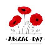 Carte d'ANZAC Day dans le format de vecteur Photos libres de droits