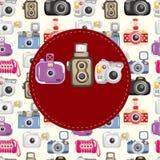 Carte d'appareil-photo de dessin animé Photographie stock libre de droits