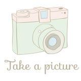 Carte d'appareil-photo de photo de vintage illustration stock