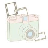 Carte d'appareil-photo de photo de vintage Image libre de droits