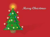 Carte d'arbre de Noël Photos libres de droits