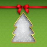 Carte d'arbre de Noël illustration de vecteur