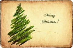 Carte d'arbre de Noël Photo libre de droits