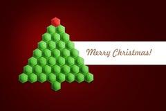 Carte d'arbre de Noël Image stock