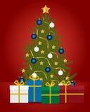Carte d'arbre de Noël Photos stock