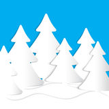 Carte d'arbre de Noël Images stock