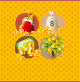 Carte d'argent de dessin animé Image stock