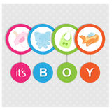 Carte d'arrivée de bébé Photo libre de droits