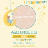 Carte d'arrivée de bébé - thème d'ours Images libres de droits