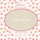 Carte d'arrivée de chéri Photographie stock libre de droits