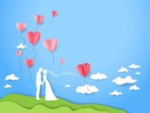 Carte d'art de mariage Image stock