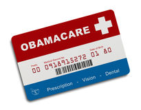 Carte d'assurance d'Obamacare illustration stock