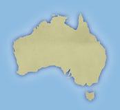Carte d'Australie illustration stock