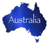 Carte d'Australie avec le fond blanc illustration libre de droits