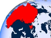 Carte d'Australie en rouge illustration libre de droits