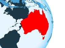 Carte d'Australie en rouge illustration stock