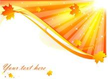 Carte d'automne Photo libre de droits