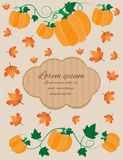 Carte d'automne Photos stock