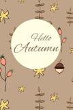 Carte d'automne Image stock