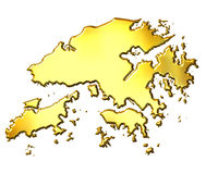 carte d'or de 3d Hong Kong Photographie stock libre de droits