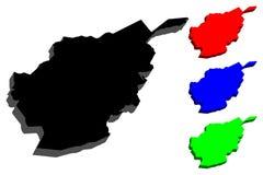 carte 3D de l'Afghanistan Photo stock