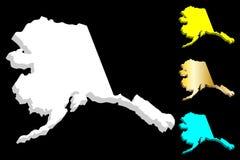 carte 3D de l'Alaska illustration libre de droits