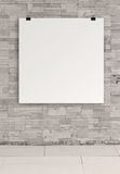 Carte 3d de papier blanc Photos libres de droits