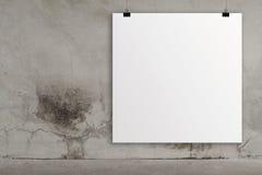 Carte 3d de papier blanc Image libre de droits