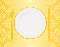 Carte d'or de restaurant Image libre de droits