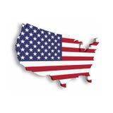 carte 3D des Etats-Unis, aka des Etats-Unis d'Amérique, dans une forme de carte des USA Illustration de vecteur avec l'ombre lais Images libres de droits