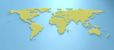 Carte 3d du monde Image stock