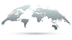carte 3D du monde dans le gris Image stock