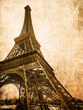 Carte d'Eiffel de cru Images libres de droits