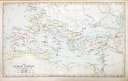 Carte d'empire romain images libres de droits