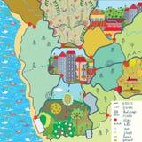 Carte d'enfant avec les configurations drôles Photos libres de droits