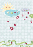 Carte d'enfant. Vecteur Image libre de droits