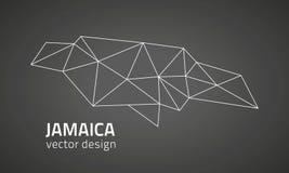 Carte d'ensemble de mosaïque de vecteur de triangle de noir de la Jamaïque illustration libre de droits