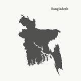 Carte d'ensemble du Bangladesh Illustration Photographie stock libre de droits