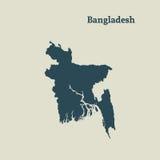 Carte d'ensemble du Bangladesh Illustration Photo libre de droits