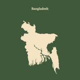 Carte d'ensemble du Bangladesh Illustration Images libres de droits