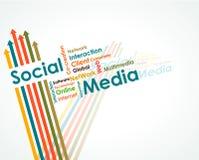 Carte d'esprit sociale de medias illustration libre de droits