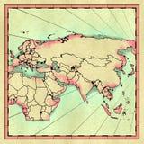 Carte d'Eurasia illustration libre de droits