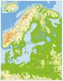 Carte d'examen médical de l'Europe du Nord AUCUN texte Image stock